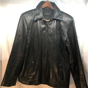 BROOKS BROTHERS SIZE M BLACK SUEDE COAT